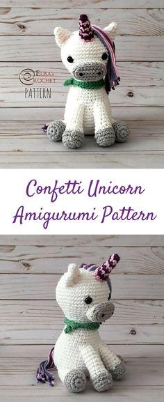 Amigurumi Confetti Unicorn Crochet Pattern Printable PDF #ad #amigurumi #amigurumidoll #amigurumipattern #amigurumitoy #amigurumiaddict #crochet #crocheting #crochetpattern #pattern #patternsforcrochet #printable #instantdownload #unicorn