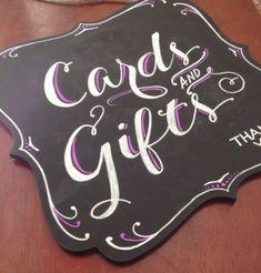 Bracketed Wedding Chalkboard Signs