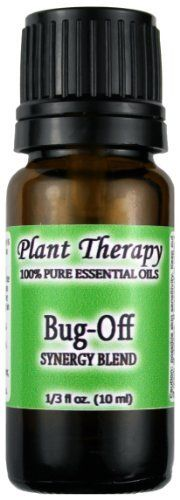 Bug Off Synergy. Essential Oil Blend. 10 ml (1/3 oz). 100% Pure, Undiluted, Therapeutic Grade. (Blend of: Citronella, Eucalyptus, Cedarwood, Lemongrass, Lavender, Litsea, Tea Tree, Patchouli & Catnip) by Plant Therapy Essential Oils, http://www.amazon.com/dp/B006OR6CDC/ref=cm_sw_r_pi_dp_ow6.pb1N9J9X2