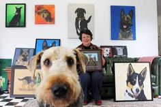 Anne Johnson and portraits of war dogs http://www.abc.net.au/news/2016-11-03/artist-pays-tribute-to-dogs-of-w ar/7992144