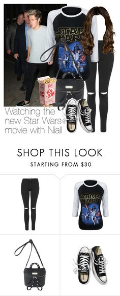 """REQUESTED: Watching the new Star Wars movie with Niall"" by style-with-one-direction ❤ liked on Polyvore featuring Topshop, Marc by Marc Jacobs, Victoria's Secret, OneDirection, 1d, NiallHoran and niall horan one direction 1d"