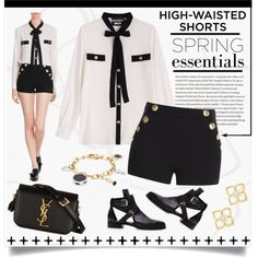 How To Wear Hot Trend - High-Waisted Shorts Outfit Idea 2017 - Fashion Trends Ready To Wear For Plus Size, Curvy Women Over 20, 30, 40, 50