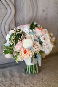 spring pastle wedding bouquet - photo by Anna Marks Photography