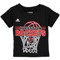 Houston Rockets adidas Toddler 3D Net T-Shirt - Black