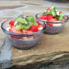 Overnight Raspberry Chia oats: soak 1/4 cup chia seeds and 1/4 cup quick cook oats overnight in coconut milk.