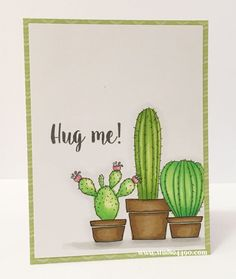 Three handmade cards using succulents from the CTHM Stuck On You stamp set.