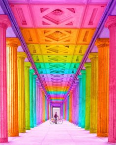 saturday - whatever it takes - The future is bright ✨ Original 📸 While 2017 wasn't without its challenges, I'm ending the year in a place of gratitude. Rainbow House, Rainbow Art, Rainbow Colors, Rainbow Stuff, Bright Colours, Taste The Rainbow, Over The Rainbow, World Of Color, Color Of Life