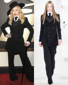 Catwalk vs Red Carpet: tinute elegante la Grammy 2014 - Madonna  in Ralph Lauren