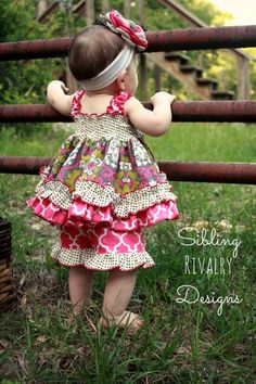 Baby Layne's Ruffle Shorts PDF Pattern Sizes Newborn to Baby Sewing Projects, Sewing For Kids, Little Girl Fashion, Little Girl Dresses, Toddler Fashion, Baby Patterns, Sewing Patterns, Sewing Ideas, Create Kids Couture