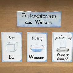 W A S S E R - Plakate zu den Zustandsformen #grundschule #sachunterricht #wasser Hintergrund von @diegrundschulkiste :) danke dafür!