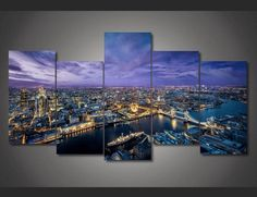 Style Your Home Today With This Amazing 5 Pieces Multi Panel Modern Home Decor Framed London Night Scenery Wall Canvas Art For $99.98 Discover more canvas selection here http://www.octotreasures.com If you want to create a customized canvas by printing your own pictures or photos, please contact us.