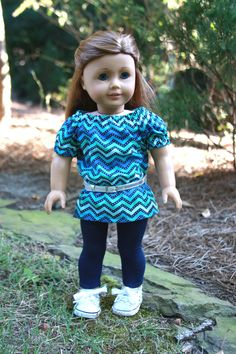 Trendy American Girl Doll Tunic and Jeggings