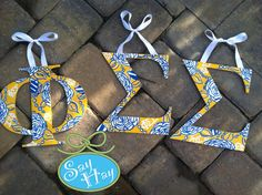 Phi Sigma Sigma print I created inspired by the sorority & Lilly Pulitzer <3 #phi #sigma