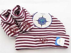 Texas A&M Infant Newborn Hat Booties Baby Gift Set