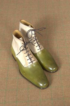 Laced Balmoral boots with brogue tip by Marc Guyot