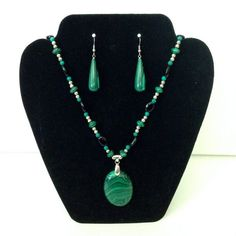 2-Piece Beaded Necklace And Earring Set by AbbottsDesigns on Etsy
