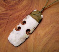 Amazing hei toki and koru spiral / new life bone by carvingbone