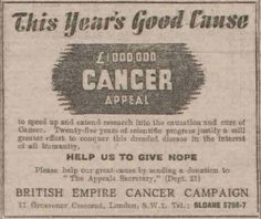 British Empire Cancer Campaign. 25 June, 1948