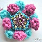 Crochet 3-D Flower {free crochet pattern}