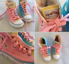 ACTUAL punky brewster shoes . 1984 rainbow high top chucks .size 4. $181.00, via Etsy.