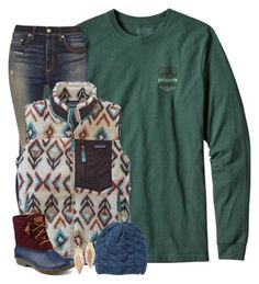 ootd by wiinter-blue on Polyvore featuring polyvore fashion style Patagonia rag & bone Sperry Kendra Scott Billabong clothing