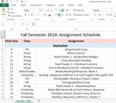 make your own assignment guide