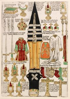 Print of the Relics of the Holy Roman Empire or Heiltumsblätter, Hans Spoerer, 1480/1496