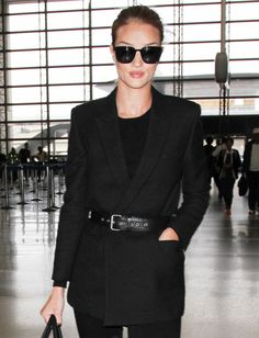 This model knows how to jet-set in style.