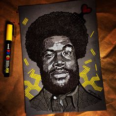 Questlove drawing - Tony Coppin