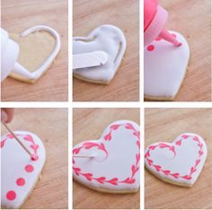 Valentine's Day is just around the corner! That means lots of pink hearts are in order! Peruse this collection of 20 Best Valentine's Day Cookie Recipes for classic and imaginative cookies sure to make your Valentine's Day special! Cookies Cupcake, Galletas Cookies, Cookie Icing, Heart Cookies, Iced Cookies, Cute Cookies, Royal Icing Cookies, Cookies Et Biscuits, Sugar Cookies