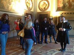 Visit of Palazzo Vecchio with Giorgio Vasari! #fcb #florence