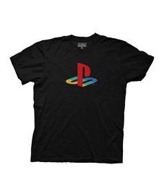 Love this Black Playstation Logo Tee by  on #zulily! #zulilyfinds