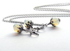 Elegantes, schlichtes Schmuckset, bestehend aus einer Gliederkette mit passenden Ohrringen - Ein Unikat der Perlenfontäne.