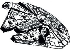 Millenium Falcon Space Ship Star Wars Vinyl Wall Art Sticker Sci Fi Decal Mural