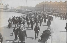 Royal Navy Sailors going on Leave at Weymouth - First World War - RP Postcard | eBay