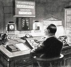 Fritz Kahn (1888–1968)- The doctor of the future (1925). http://socks-studio.com/2012/08/24/fritz-kahn-human-body-as-an-industrialized-world/