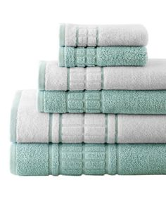 Serene Space: Bathroom Essentials up to 70% off  Soft Jade & White Contrast Towel Set ~ many colors & styles $29.99 Reg. $84.00