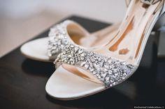Wedding shoes - glam, fall, open toe, rhinestone, silver {Enchanted Celebrations}