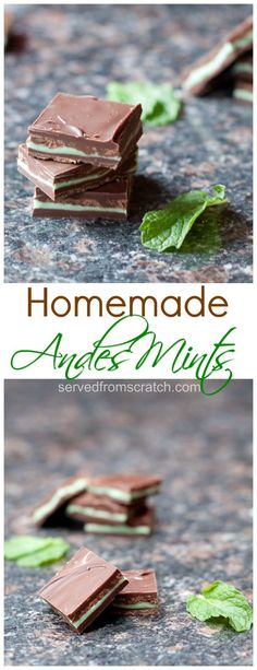With just 4 ingredients and 30 minutes you can make your Homemade Andes Mints!