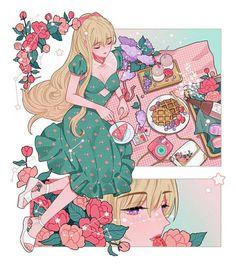 Arte Do Kawaii, Kawaii Art, Kawaii Anime Girl, Kawaii Drawings, Cute Drawings, Aesthetic Art, Aesthetic Anime, Character Art, Character Design