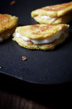 Fresh Corncakes with Cheese from Venezuela (Cachapas) instead of masa use PAN flour, fresh corn