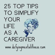Simplify your life as a caregiver