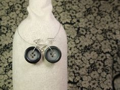 Vintage Button Bicycle Necklace. $23.95, via Etsy.