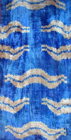 Uzbek silk velvet, handloomed...gorgeous color.
