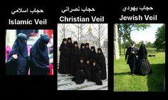 Veils in divine Religions #Religion#Islam#Christianity#Judaism