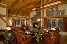 Cozy Timber Frame Homes with Fireplaces