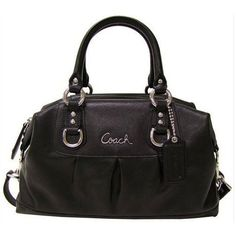 Coach Ashley Black Leather Satchel F15445 Bag - Coach 15445BKBlack Satchel: Any outfit can go perfect with beautiful handbags by Coach. Click Picture for Info