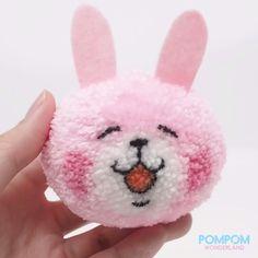 pom pom animals DIY Tutorial - How to Make a Pompom Usagi Bunny - Pompom Tutorial Yarn Animals, Pom Pom Animals, Diy Crafts For Gifts, Cute Crafts, Crafts For Kids, Pom Pom Crafts, Yarn Crafts, Easter Crafts, Christmas Crafts