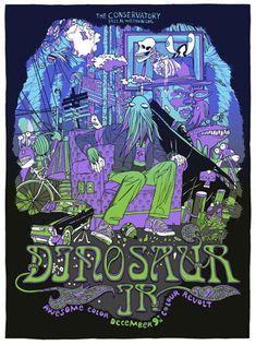 Dinosaur Jr Concert Poster (Variant) By Tyler Stout