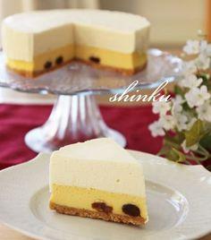 チーズケーキ好きに捧げる*二層のチーズケーキ | 冬のひいらぎ 秋のかえで*shinkuのレシピ&ライフ
